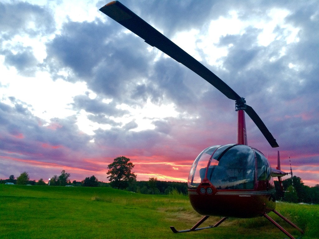 heli sunset