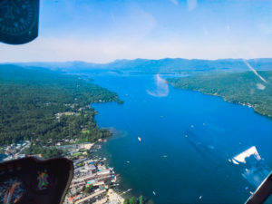 Lake George View from Helicopter