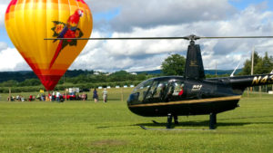 Helicopter ride at Hudson Valley Balloon Festival
