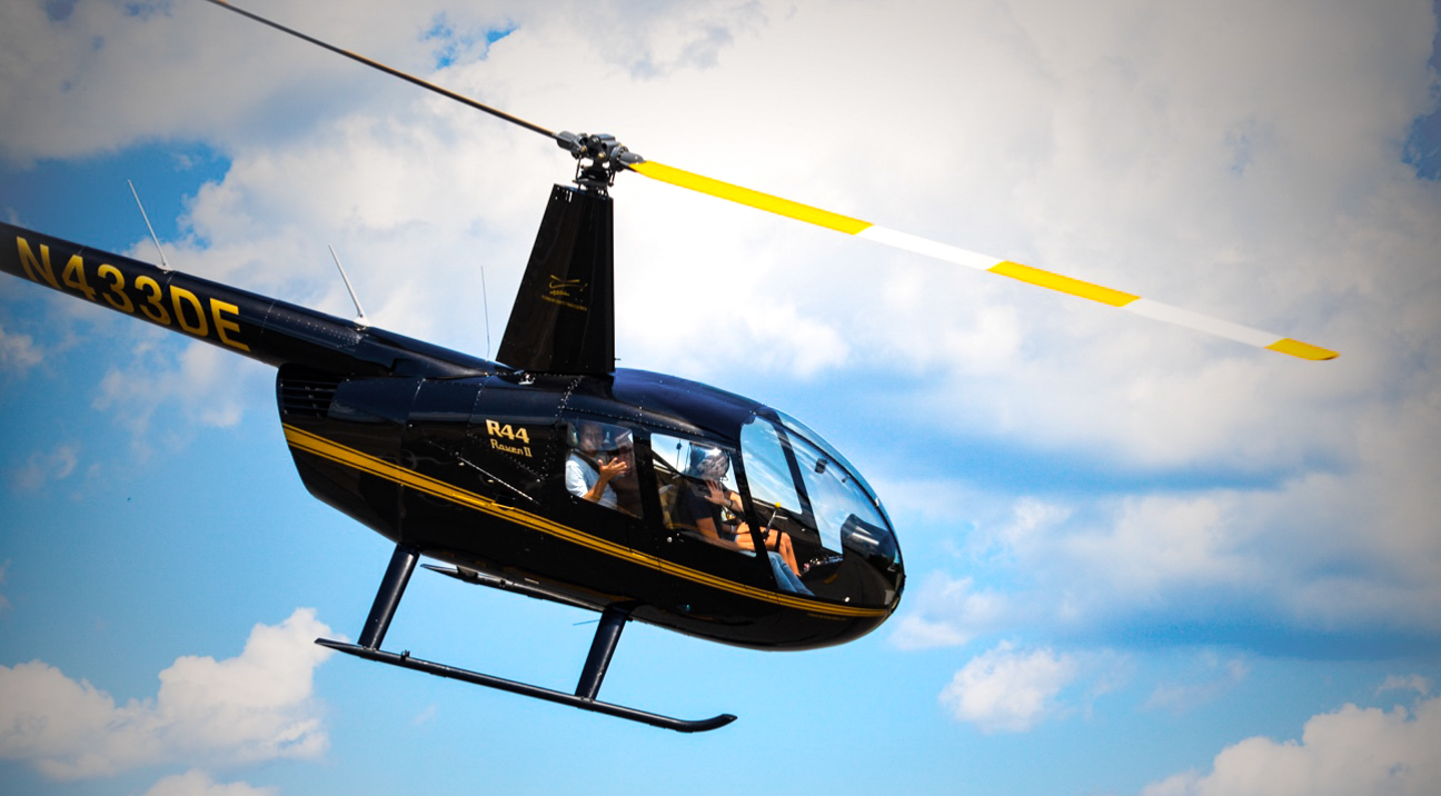 Helicopter rides at New York International Airshow